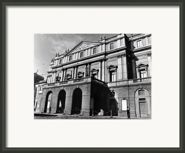 La Scala, Opera House, In Milan, Italy Framed Print By Everett