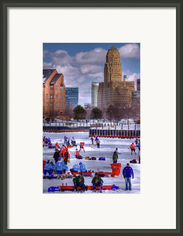 Labatt Pond Hockey 2011 Framed Print By Don Nieman