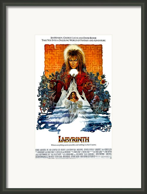 Labyrinth, David Bowie, Jennifer Framed Print By Everett