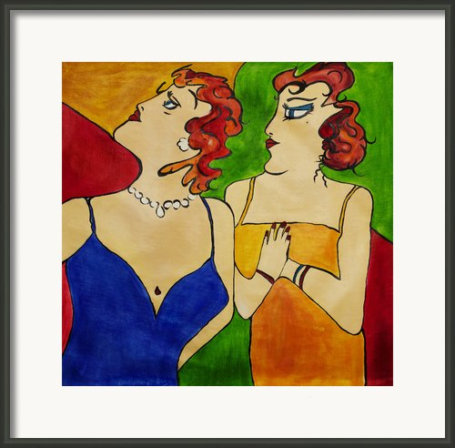 Ladies At The Opera Framed Print By Dave Sherwood-adcock