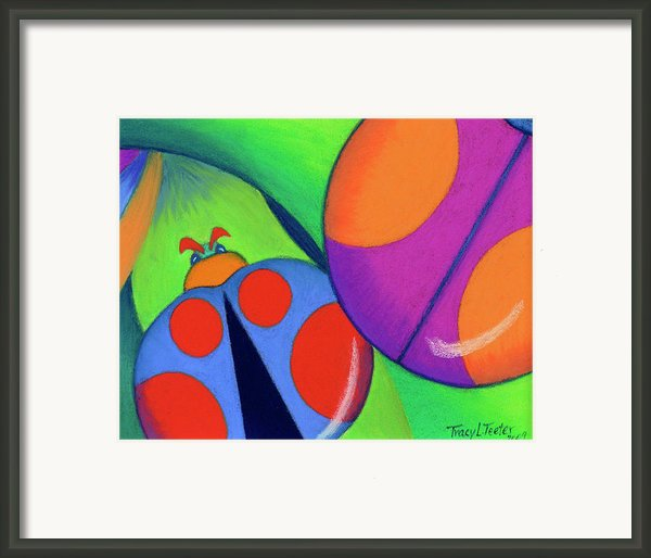 Ladies On A Leaf Framed Print By Tracy L Teeter