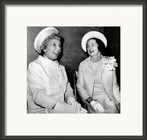 Lady Bird Johnson And Muriel Humphrey Framed Print By Everett
