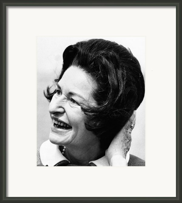 Lady Bird Johnson Smiles As The Wind Framed Print By Everett
