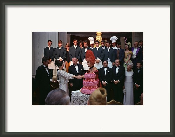 Lady Bird Johnson Thanks Carol Channing Framed Print By Everett
