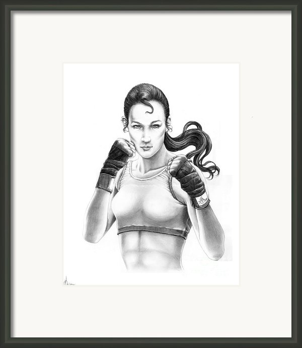 Lady Boxer Framed Print By Murphy Elliott