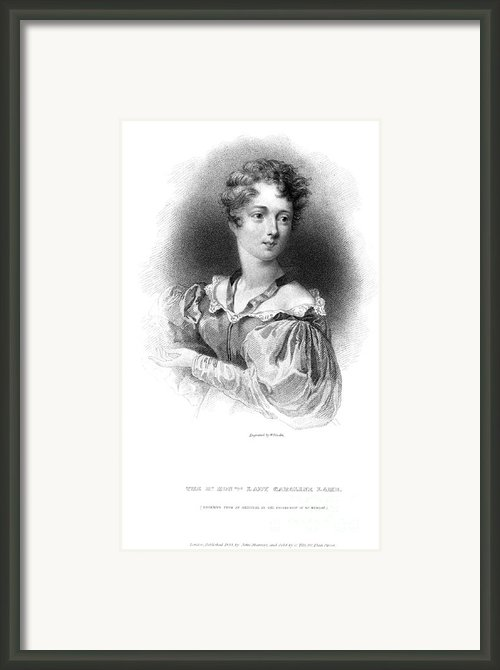 Lady Caroline Lamb Framed Print By Granger