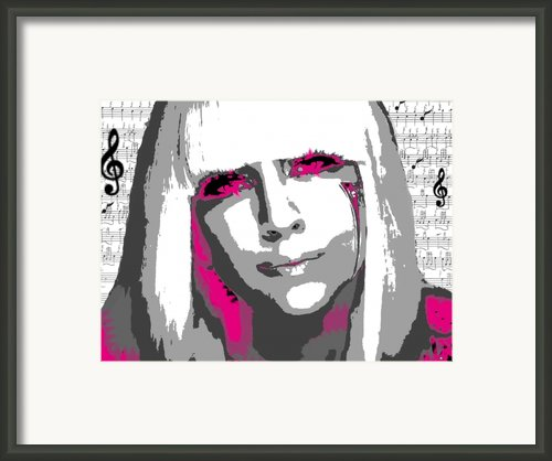 Lady Gaga Framed Print By Brad Scott