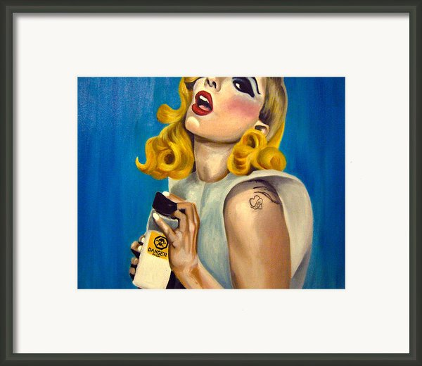 Lady Gaga Commission Framed Print By Emily Jones