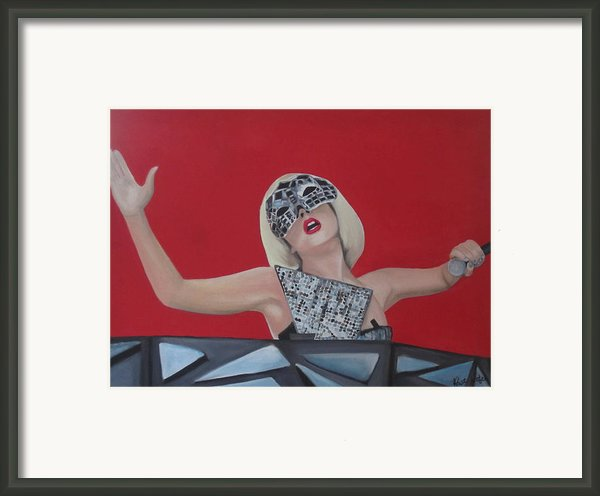 Lady Gaga Poker Face Framed Print By Kristin Wetzel
