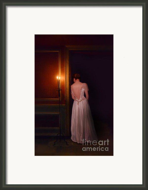 Lady In Candle Light Framed Print By Jill Battaglia