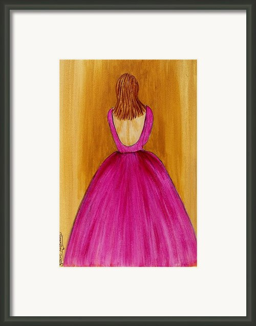 Lady In Pink 4536 Framed Print By Jessie Meier