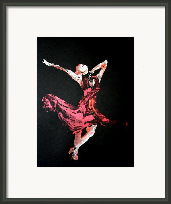 Lady In Red  Framed Print By Ana Bikic