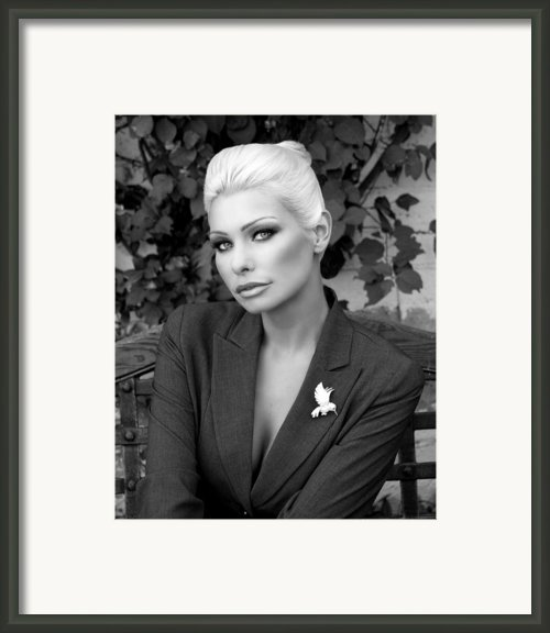 Lady Of Solitude Bw Framed Print By William Dey
