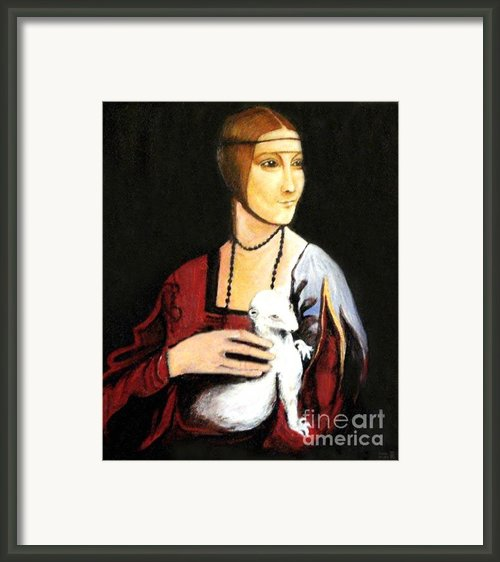 Lady With An Ermine  Dama Con Ermellino Framed Print By Patty Meotti