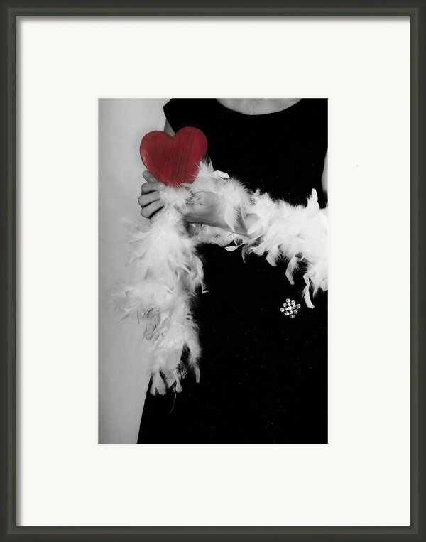 Lady With Heart Framed Print By Joana Kruse