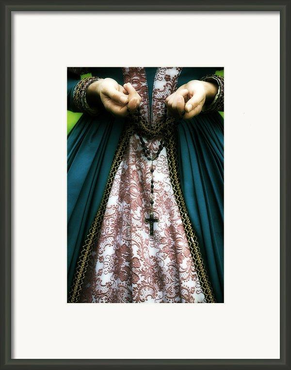 Lady With Rosary Framed Print By Joana Kruse