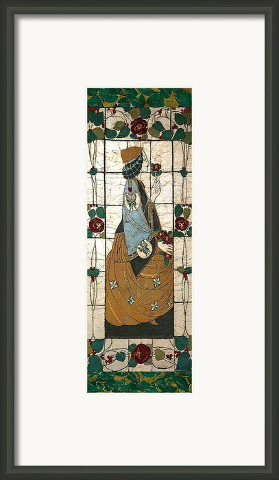 Lady With The Rose Framed Print By Alexandra  Sanders