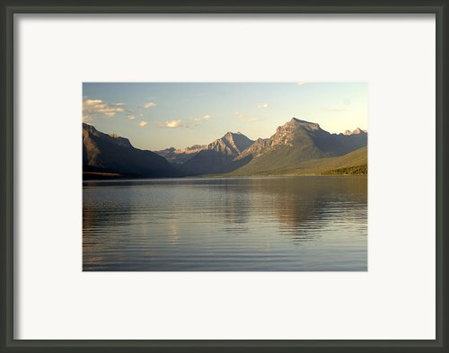 Lake And Mountains Framed Print By Marty Koch
