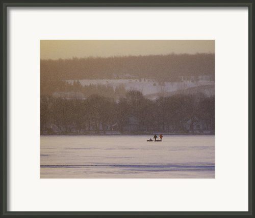 Lake Crossing  February 2010 Framed Print By Joseph Duba