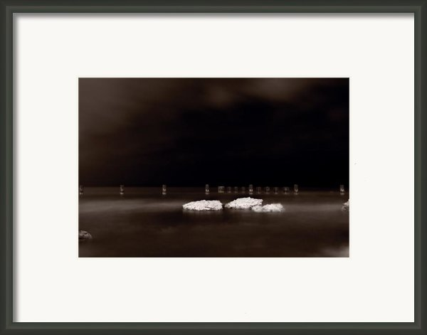 Lake Ice Framed Print By Steve Gadomski