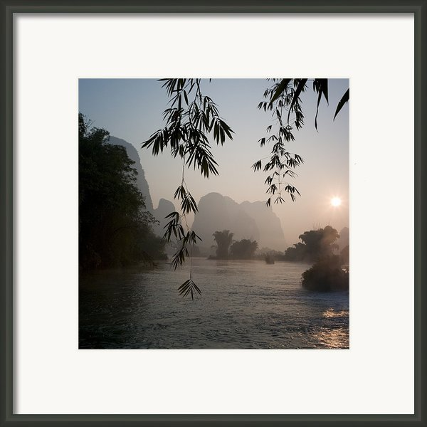 Lake In Mountain Area Framed Print By Keith Levit