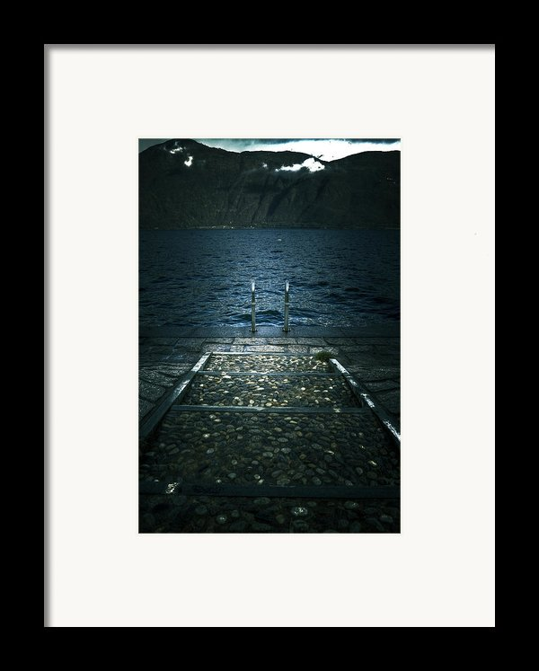 Lake In The Winter Framed Print By Joana Kruse