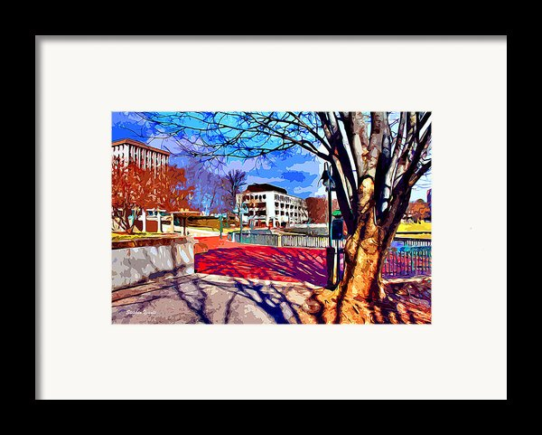 Lake Kittamaqundi Walkway Framed Print By Stephen Younts