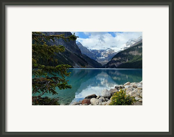 Lake Louise 2 Framed Print By Larry Ricker