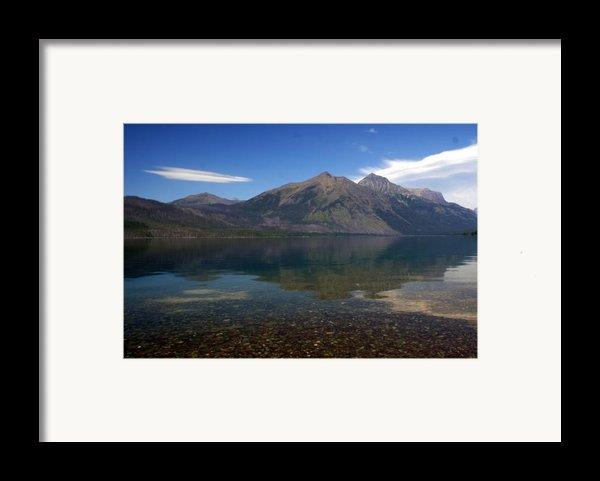 Lake Mcdonald Reflection Glacier National Park 2 Framed Print By Marty Koch
