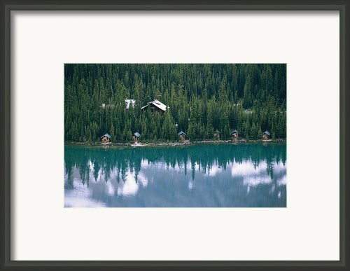 Lake Ohara Lodge And Cabins Framed Print By Michael Melford
