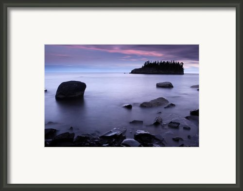 Lake Superior Twilight Framed Print By Eric Foltz