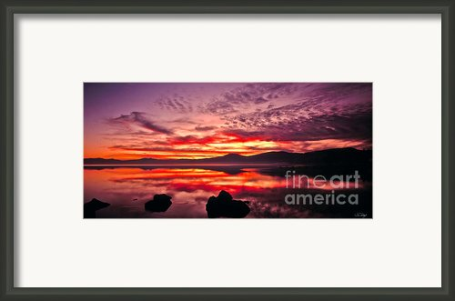 Lake Tahoe Sunset Panorama Framed Print By Vance Fox