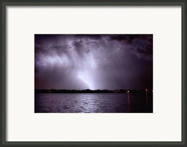 Lake Thunderstorm Framed Print By James Bo Insogna