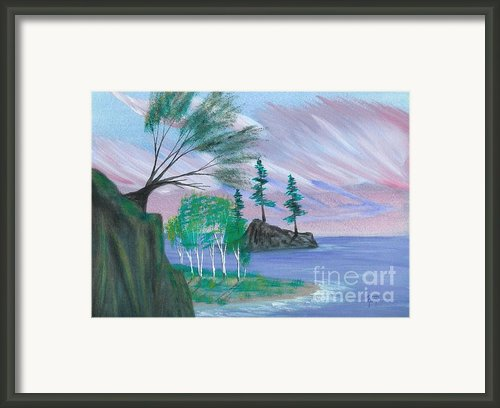 Lakeside Symphony Framed Print By Robert Meszaros