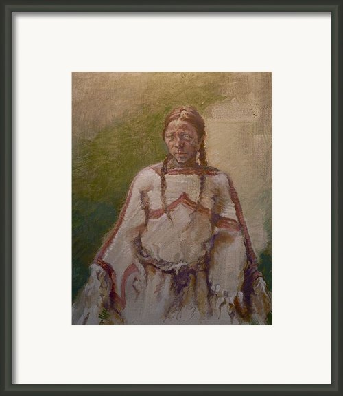 Lakota Woman Framed Print By Ellen Dreibelbis