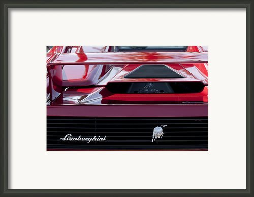 Lamborghini Rear View Framed Print By Jill Reger