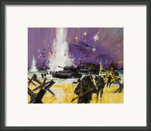 Landing Framed Print By Graham Cotton