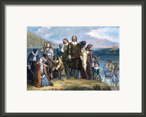 Landing Of Pilgrims, 1620 Framed Print By Granger
