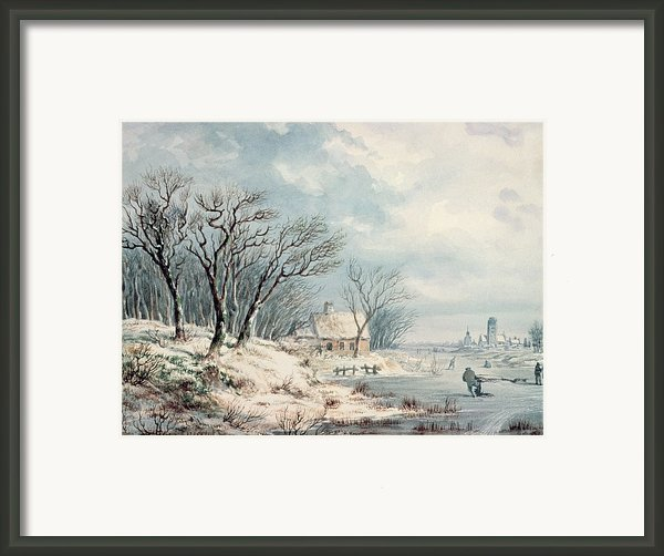 Landscape In Winter Framed Print By Jj Verreyt