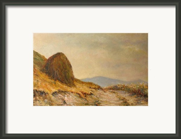 Landscape With A Hayrick Framed Print By Tigran Ghulyan