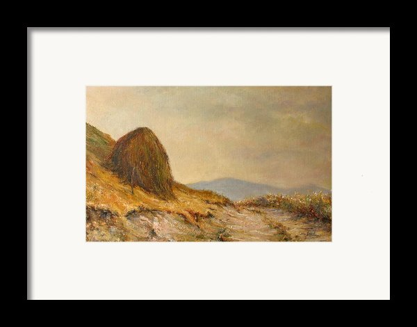 Landscape With A Hayrick Framed Print By Tigran Ghulyan