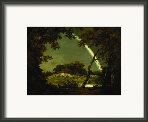 Landscape With A Rainbow Framed Print By Joseph Wright Of Derby