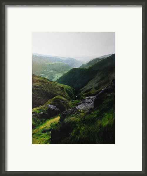 Landscape With Aspect Towards The North Wales Coast. Framed Print By Harry Robertson