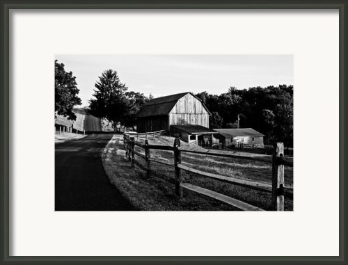 Langus Farms Black And White Framed Print By Jim Finch