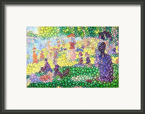 Large Bubbly Sunday On La Grande Jatte Framed Print By Mark Einhorn