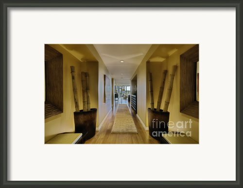 Large Hallway In Upscale Residence Framed Print By Andersen Ross