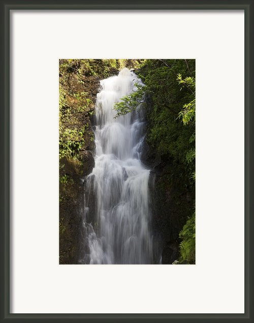 Large Hana Waterfall Framed Print By Jenna Szerlag