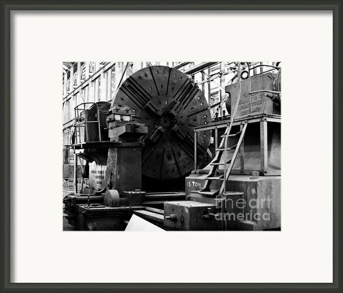 Large Lathe Framed Print By John Buxton