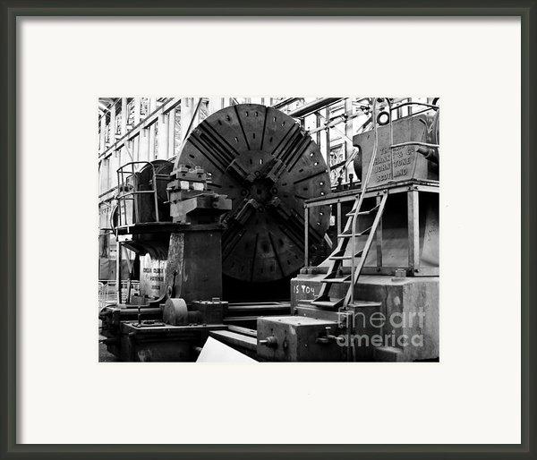 Large Lathe Framed Print By John Buxton