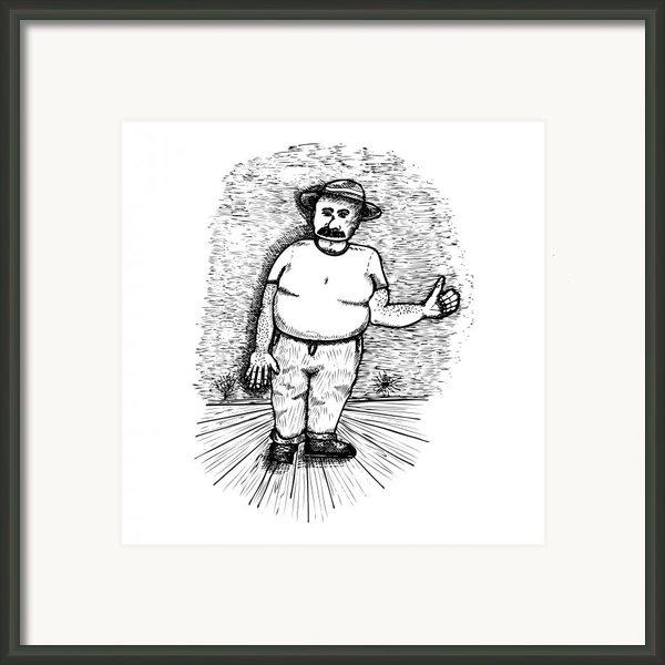 Large Man Framed Print By Karl Addison